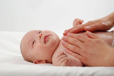 newborn child massage #8 Stock Photo - 914770