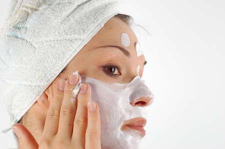 cremas faciales: m�scara de belleza  Foto de archivo