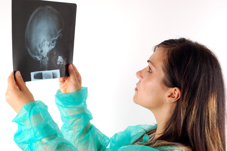 female doctor holding x-ray #6 photo