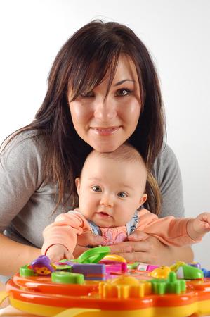 having fun with baby Stock Photo - 1582989