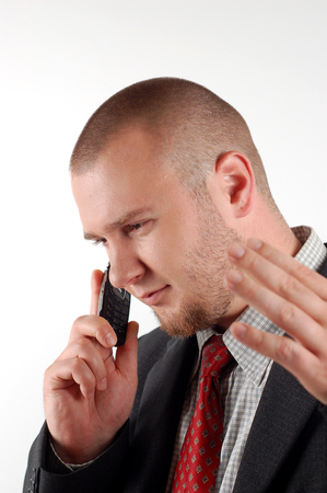 businessman with cellular Stock Photo - 1831586