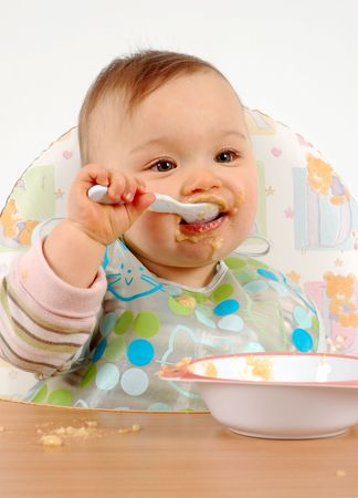 baby eating: eating practice