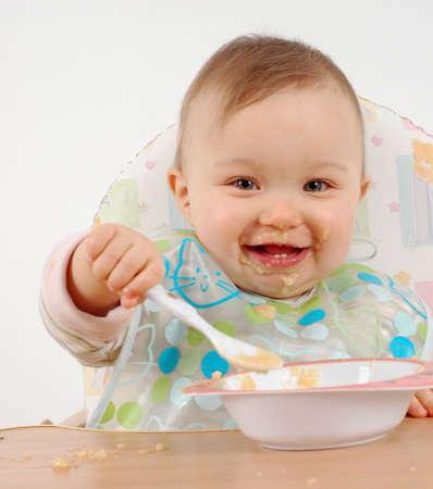 eating baby Stock Photo