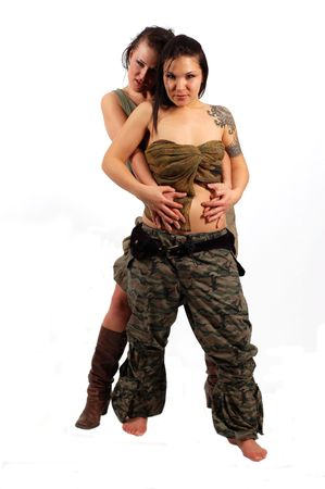 lady s: military women Stock Photo