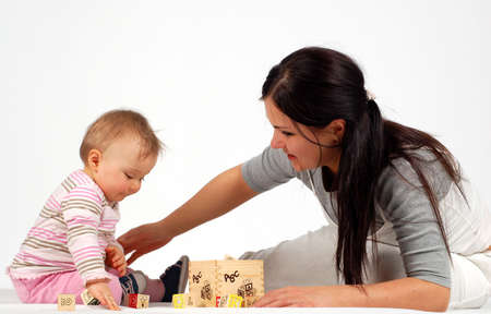 mother having fun with baby Stock Photo - 2812747