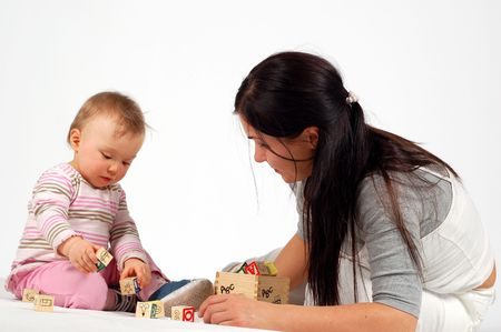 mother having fun with baby Stock Photo - 2812749