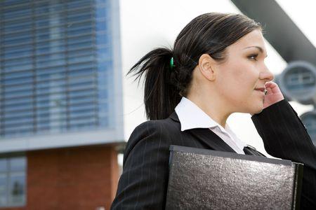 attractive brunette and successful businesswoman