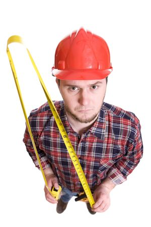 journeyman: worker with tools over white background Stock Photo