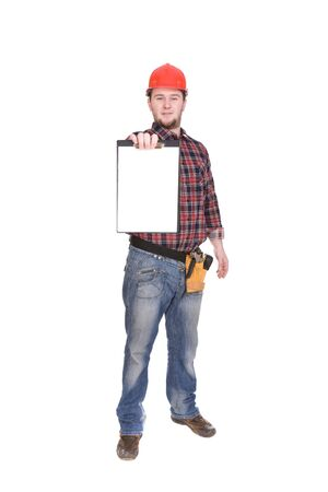 journeyman: workman isolated over white background