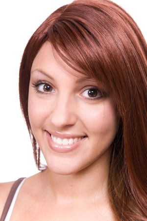 attractive young woman with red hair Stock Photo - 5467800