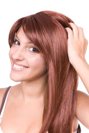 attractive young woman with red hair Stock Photo - 5467820