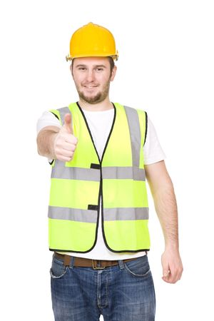 young worker over white background Stock Photo - 6438440