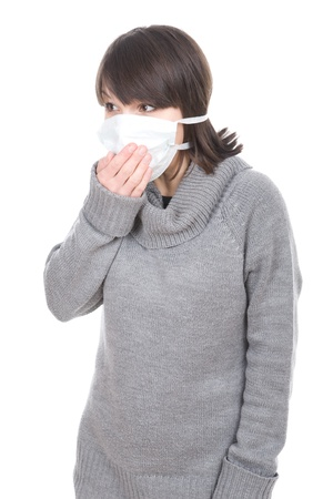 young adult brunette woman with medical mask Stock Photo - 8980069