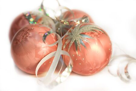 Christmas balls for decoration photo