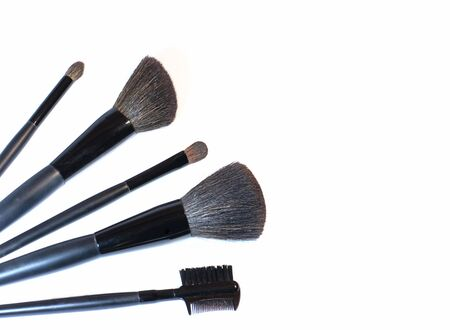 Set of brushes for make-up photo