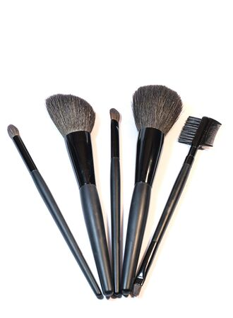 Professional set of brushes for make-up photo