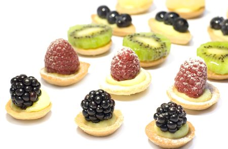 Miniature pastries for banquet