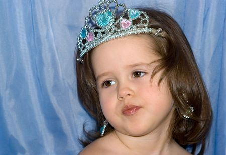 Little princess in caprisious mood Stock Photo - 4057746
