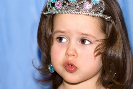 Portrait of a cute little girl with a crown Stock Photo - 4057748