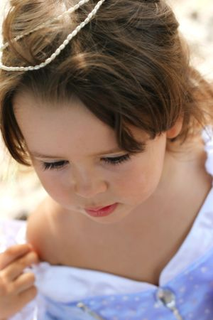 Portrait of a little girl dressed up as a princess Stock Photo - 4057720