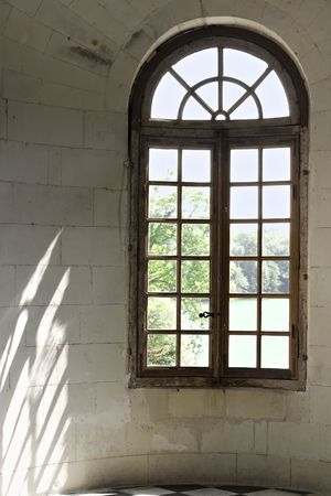 through the window: Sunlight coming through the window