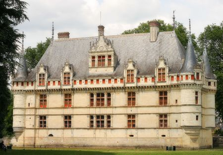 Beautiful castle Azey-le-Rideau, France