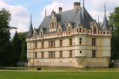 Beautiful castle Azay-le-Rideau, France photo