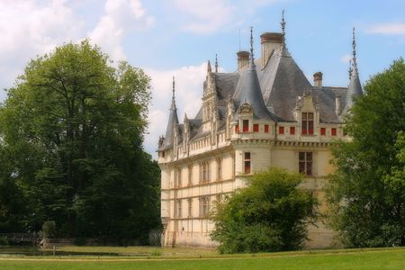 Castle Azay-le-Rideau, France