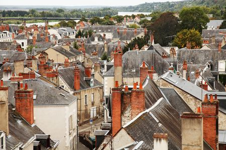 Roofs of Blois town, Loire valley, France photo