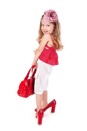fetysz: Zabawna dziewczyna niewiele prób na jej matka akcesoria i buty