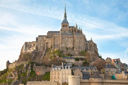 michele: Le Mont Saint Michel, Normandia, Francia Archivio Fotografico