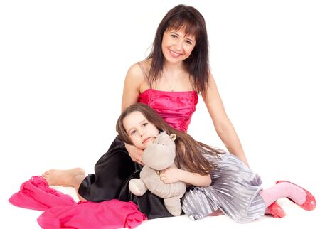 Mother and daughter in beautiful dresses Stock Photo - 9180546