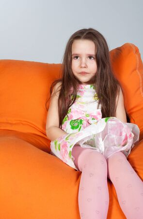 Portrait of a cute little girl crying Stock Photo - 9364437
