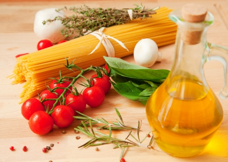 Traditional ingredients of Italian cuisine photo