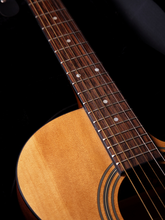 Close-up of the acoustic guitar