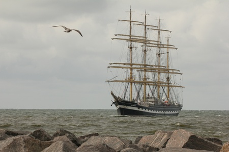 sailing boat: Sailing boat Stock Photo