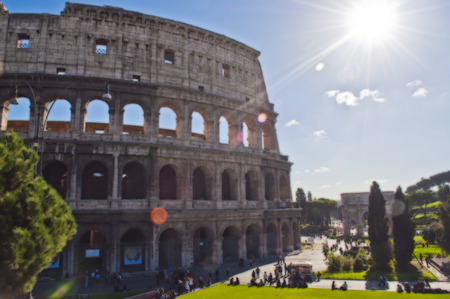 colosseo: Colosseum Rome Painting - Stock Photo Stock Photo