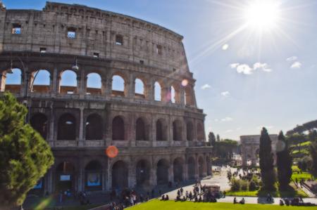 Colosseum Rome Painting - Stock Photo Stok Fotoğraf
