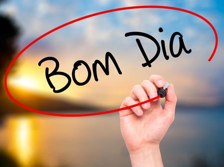 Bom Dia In Portugiesisch Guten Morgen Zeichen Auf