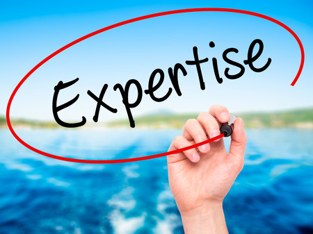 How to Show Off Your Innate Expertise in Your Writing   The Write     Lifehack expertise blank  Business woman writing blank Expertise list  Isolated on white  Stock Photo