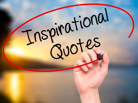 love proof: Man Hand writing Inspirational Quotes with black marker on visual screen. Isolated on background. Business,  technology, internet concept. Stock Photo