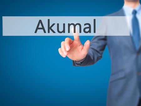caribe: Akumal - Businessman press on digital screen. Business,  internet concept. Stock Photo