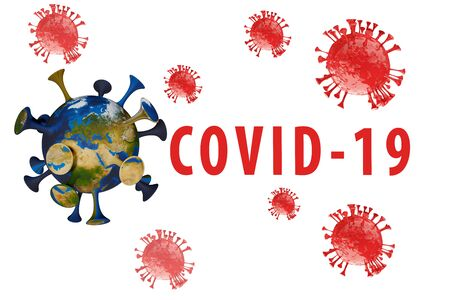 Inscription COVID-19 on white background. World Health Organization WHO introduced new official name for Coronavirus disease named COVID-19