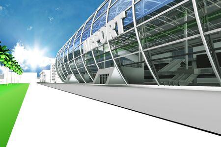 렌더링 공항 빌딩
