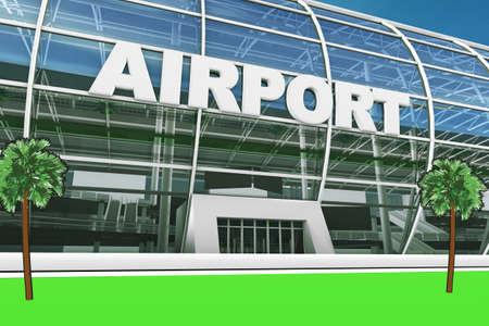 Rendering Airport Building