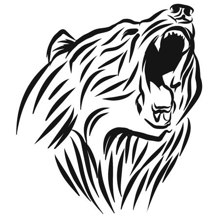 A roaring Bear head Vettoriali