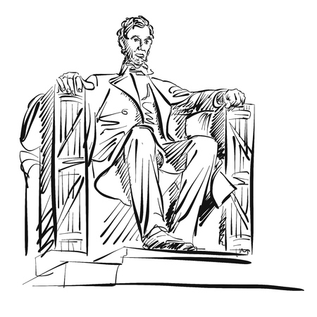abraham: Abraham Lincoln Freehand Sketch Vector Artwork