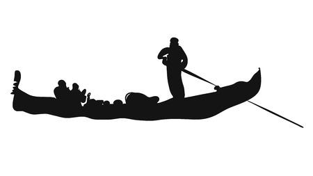 sihouette: Gondola, Italian Love Taxi Sihouette