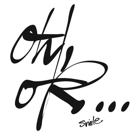 ah: Oh, ok. Hand lettered Title Artwork