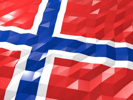 national symbol: Flag of Bouvet Island 3D Wallpaper Illustration, National Symbol, Low Polygonal Glossy Origami Style